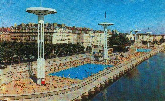 Agrandissement 1978 for Piscine rhone lyon